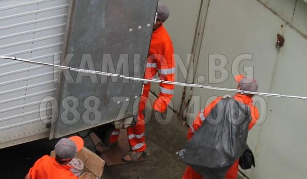 Камион за извозване на мебели в София