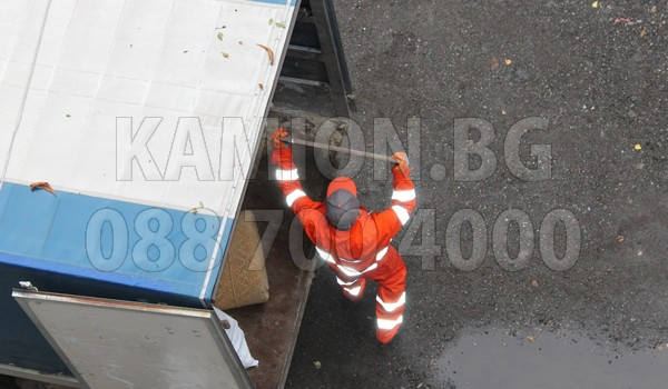 Извозване а скамион в София
